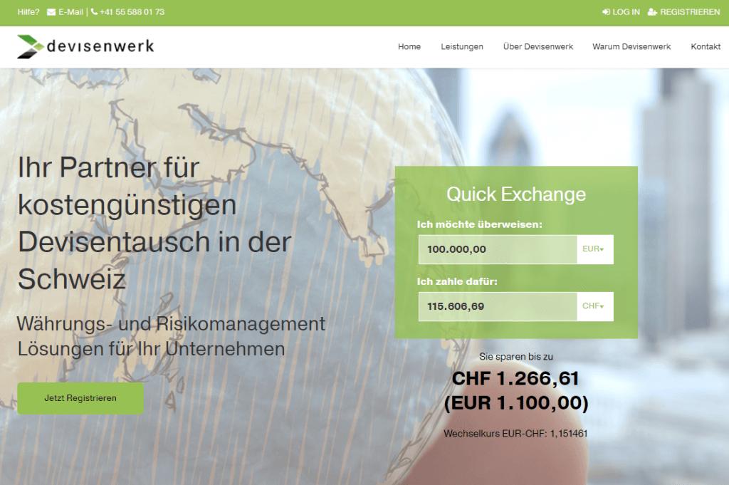 Screen Devisenwerk 1024x681 - Million Franken Baby: Devisenwerk.ch startet durch