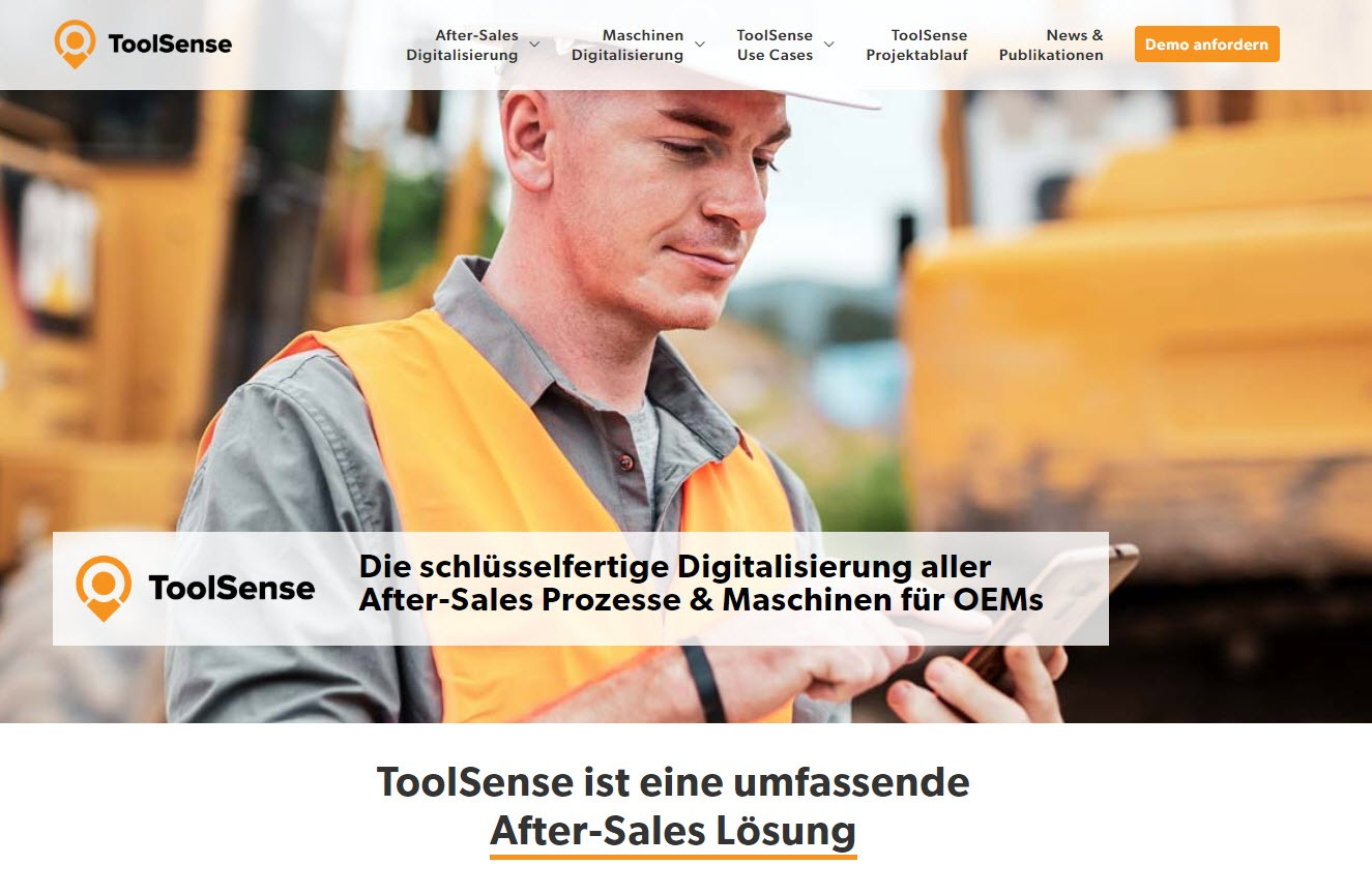 ToolSense Website - Kunde im Fokus - ToolSense