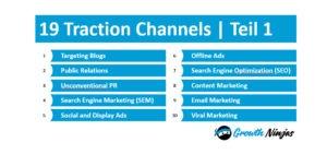 19 Traction Channels Ninjas v2 300x152 - Wachstum durch die 19 Traction Channels: Teil 1