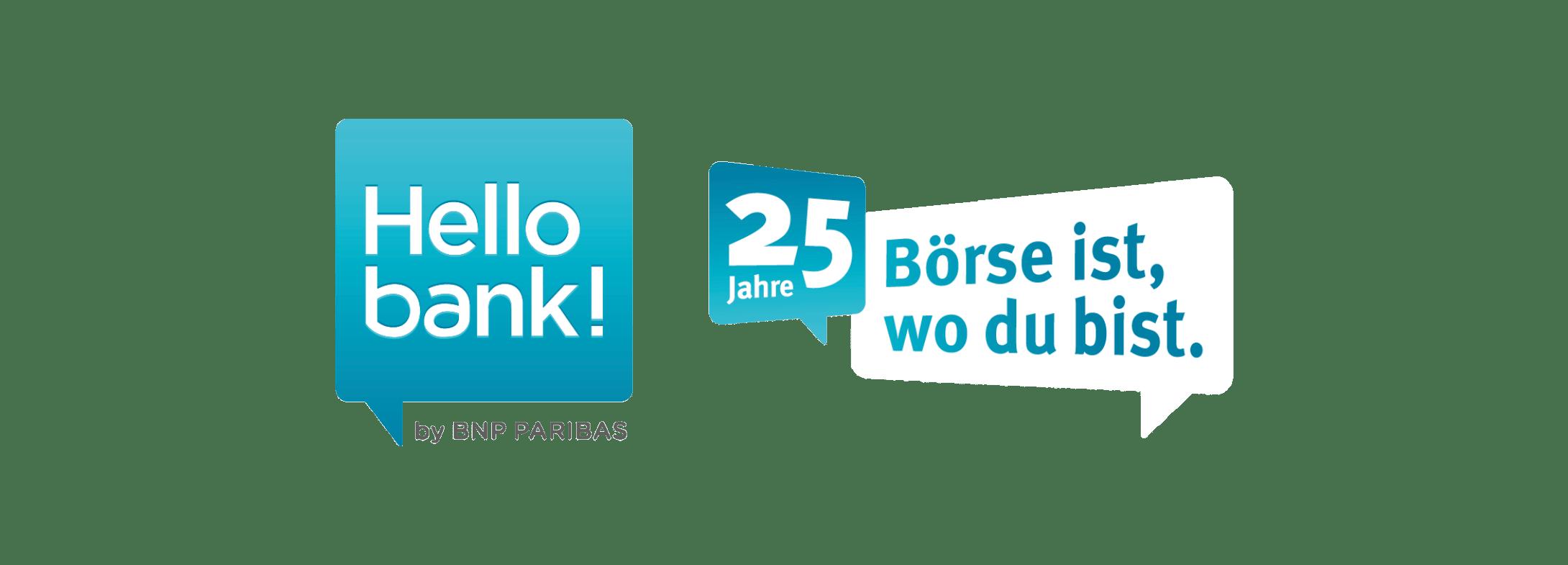 Hello bank Logo für Webseite - Kunde im Fokus - Hello bank!